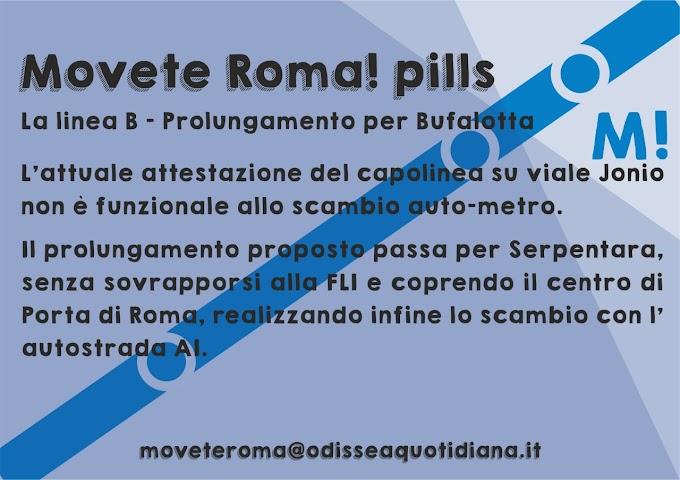 Movète Roma Pillola, numero 7, la Linea B - Prolungamento per Bufalotta