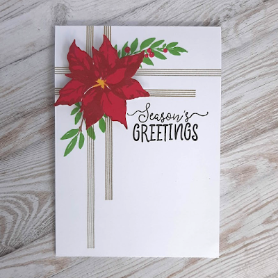 Christmas card featuring Altenew products