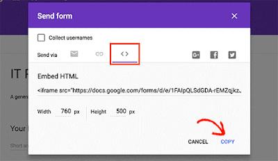Cara Membuat Form di Blogger Menggunakan Google Form