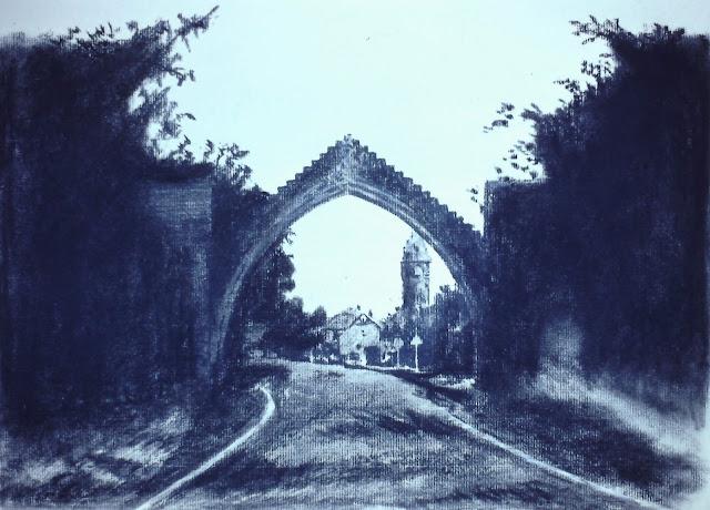 Edzell Arch, village of Edzell, Angus Scotland 1991 by F. Lennox Campello