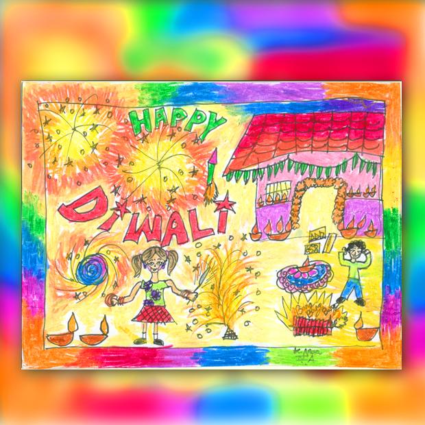 Diwali Paintings for Kids