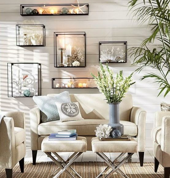 36 Breezy Beach Inspired Diy Home Decorating Ideas: Indoor Outdoor Coastal Nautical Living Room Decor Ideas