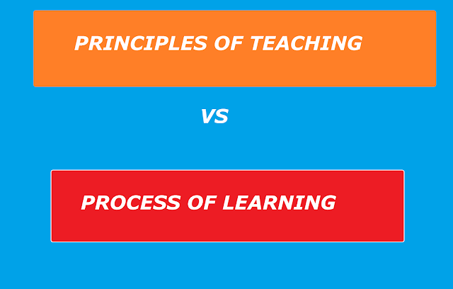 PRINCIPLES OF TEACHING and PROCESS OF LEARNING