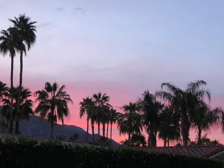 South Palm Springs sunset
