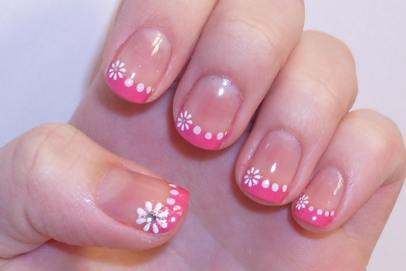 pink french manicure. Black Bedroom Furniture Sets. Home Design Ideas