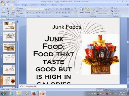 Global Chinmaya Healthy Food And Junk Food