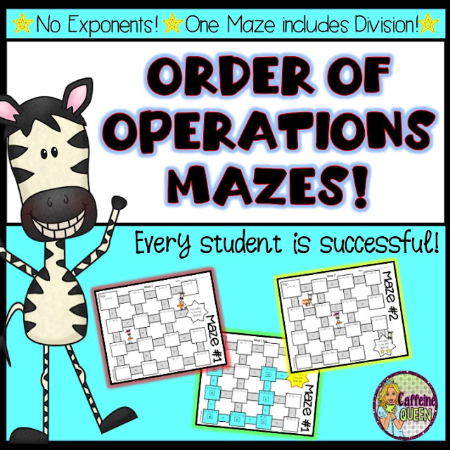 Order of Operations Mazes - every student is successful!