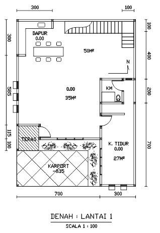 gambar denah rumah dengan coreldraw 1