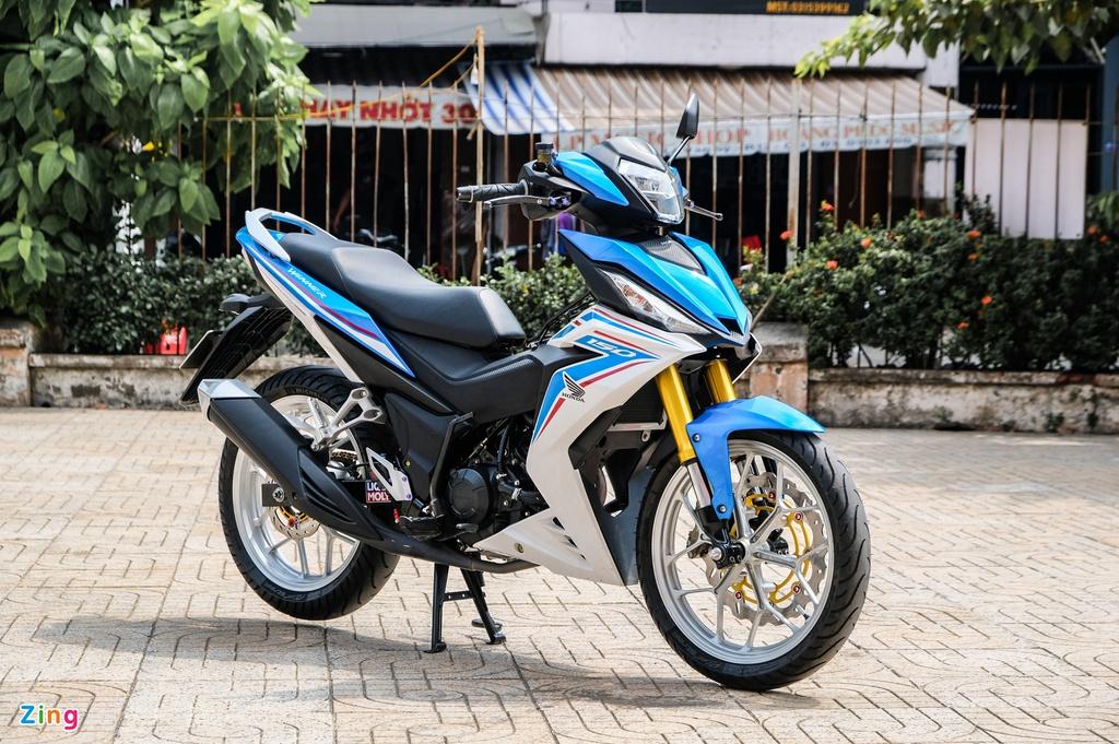 Honda Winner của biker TP.HCM nổi bật với giảm xóc BMW