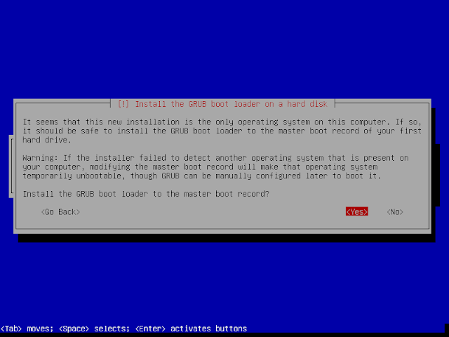 grub boot loader instalasi debian 9.6