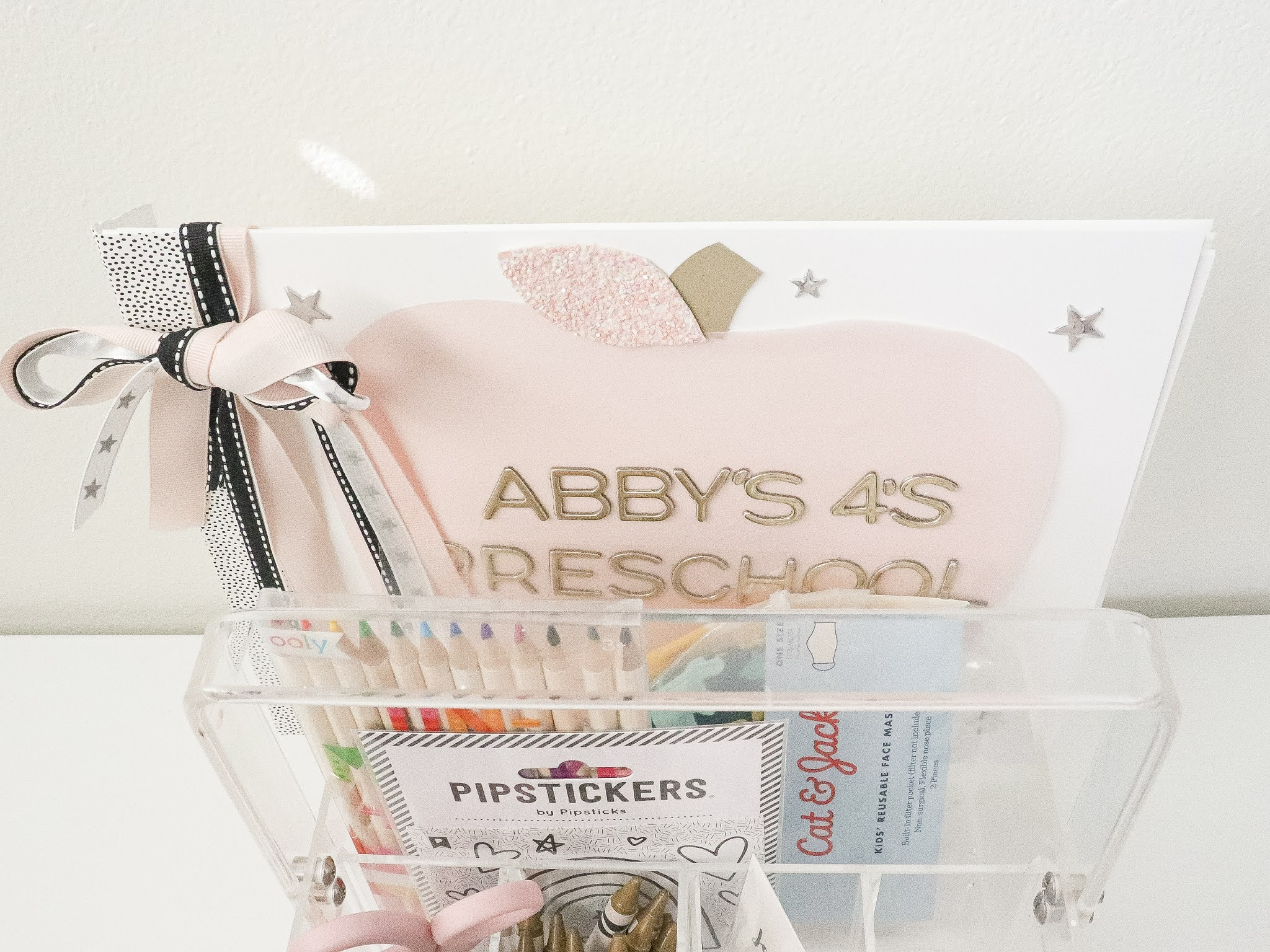 back to school basket preschool