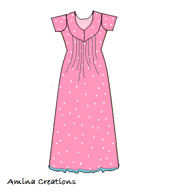 Amina Creations How To Stitch A Nighty With Yoke