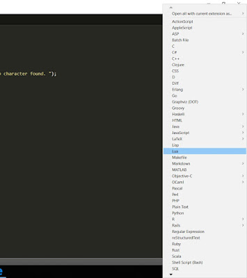 Bahasa yang support pada sublime text 3