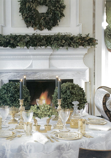 {holiday inspiration : stars and garlands and romance by candlelight}