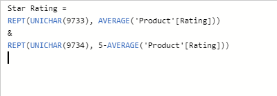 Add Star Rating In Power BI Desktop Using DAX Expression