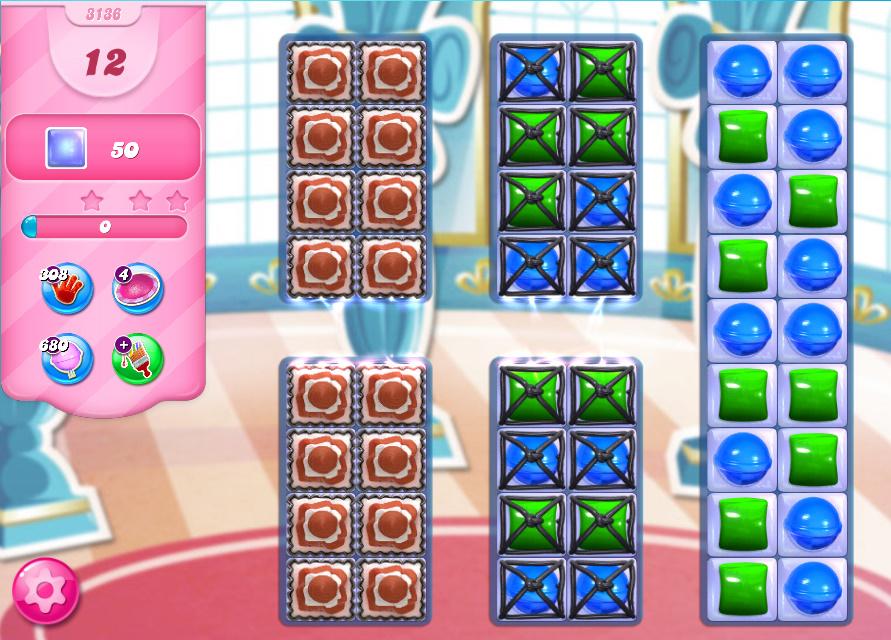 Candy Crush Saga level 3136