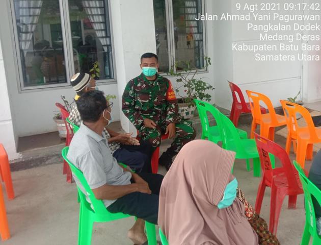 Ditengah Pandemi Covid-19, Personel Jajaran Kodim 0208/Asahan Gencarkan Laksanakan Komunikasi Sosial Dengan Masyarakat