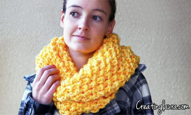 Creating Laura Infinity Scarf Knitting Pattern