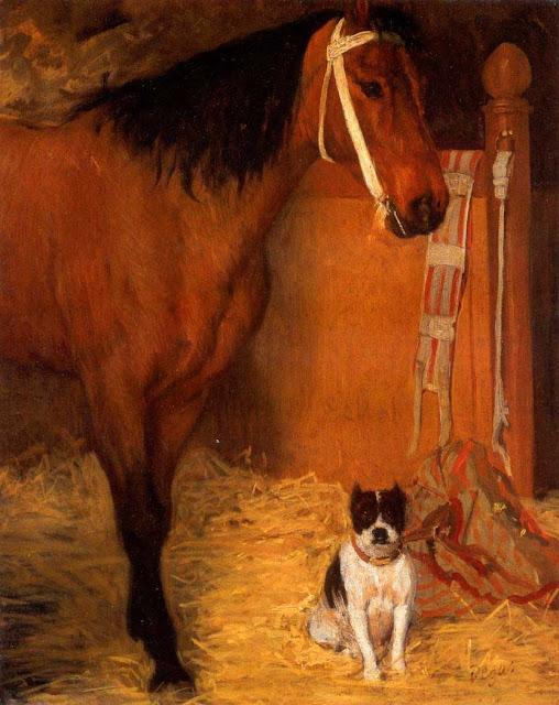 Эдгар Дега - Лошадь и собака (1862)