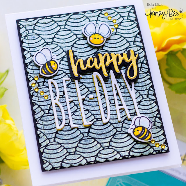 Happy Bee-Day Birthday Card,Honey Bee Stamps,stencil,Bitty Buzzwords,BUSY BEE,Card Making, Stamping, Die Cutting, handmade card, ilovedoingallthingscrafty, Stamps, how to,