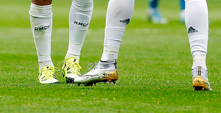 e7c1658f58 ... Nike Mercurial Superfly CR7 324K Gold boots just got even cooler. Upon  closer inspection of several training and match photos of Cristiano Ronaldo  ...