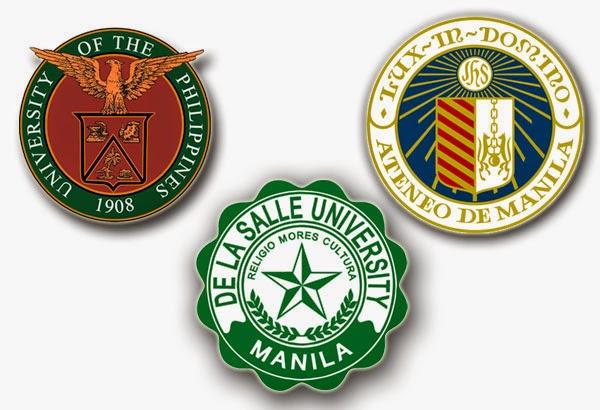 BIG THREE: UP, Ateneo and La Salle