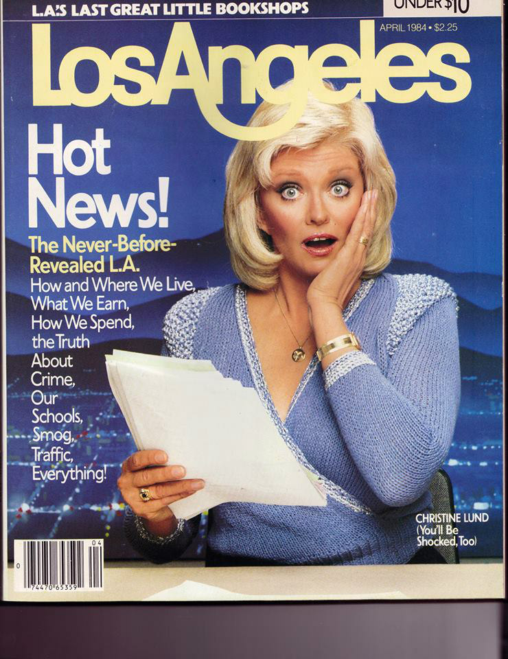 LOS ANGELES TV NEWS ANCHORS & REPORTERS: Christine Lund, 1984