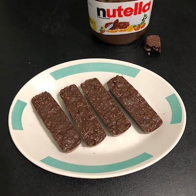 Barres de céréales au Nutella sans cuisson