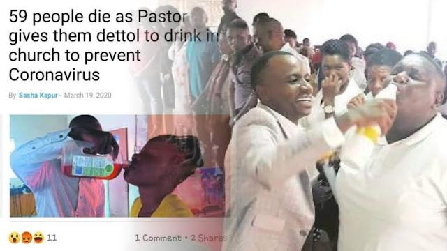 59 Jemaat Gereja di Kenya Tewas setelah Meminum Dettol, Benarkah untuk Menyembuhkan Corona?