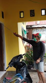 Langkah Pencegahan,  Kawalo : Penyemprotan Disinfektan Terus di Lakukan