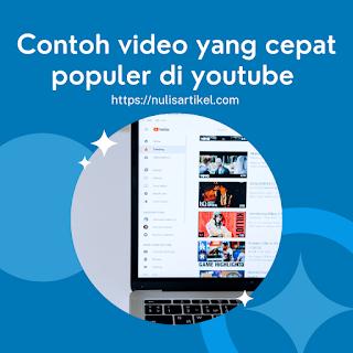 Contoh konten video yang populer di youtube