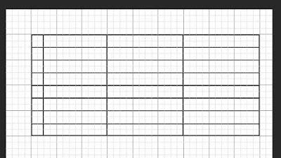 Cara membuat tabel di PS