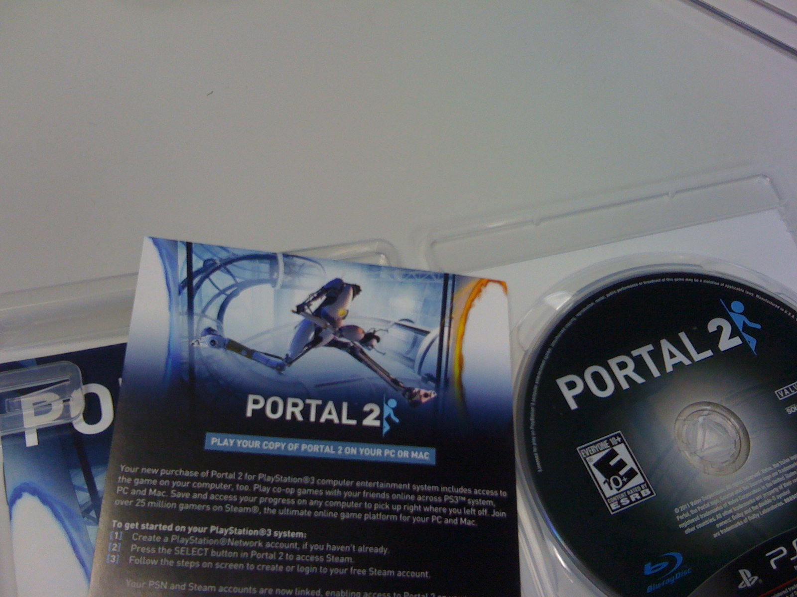 Gameritis: Portal 2 (and Steam copy) arrives promptly