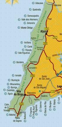 Oeste del Algarve.