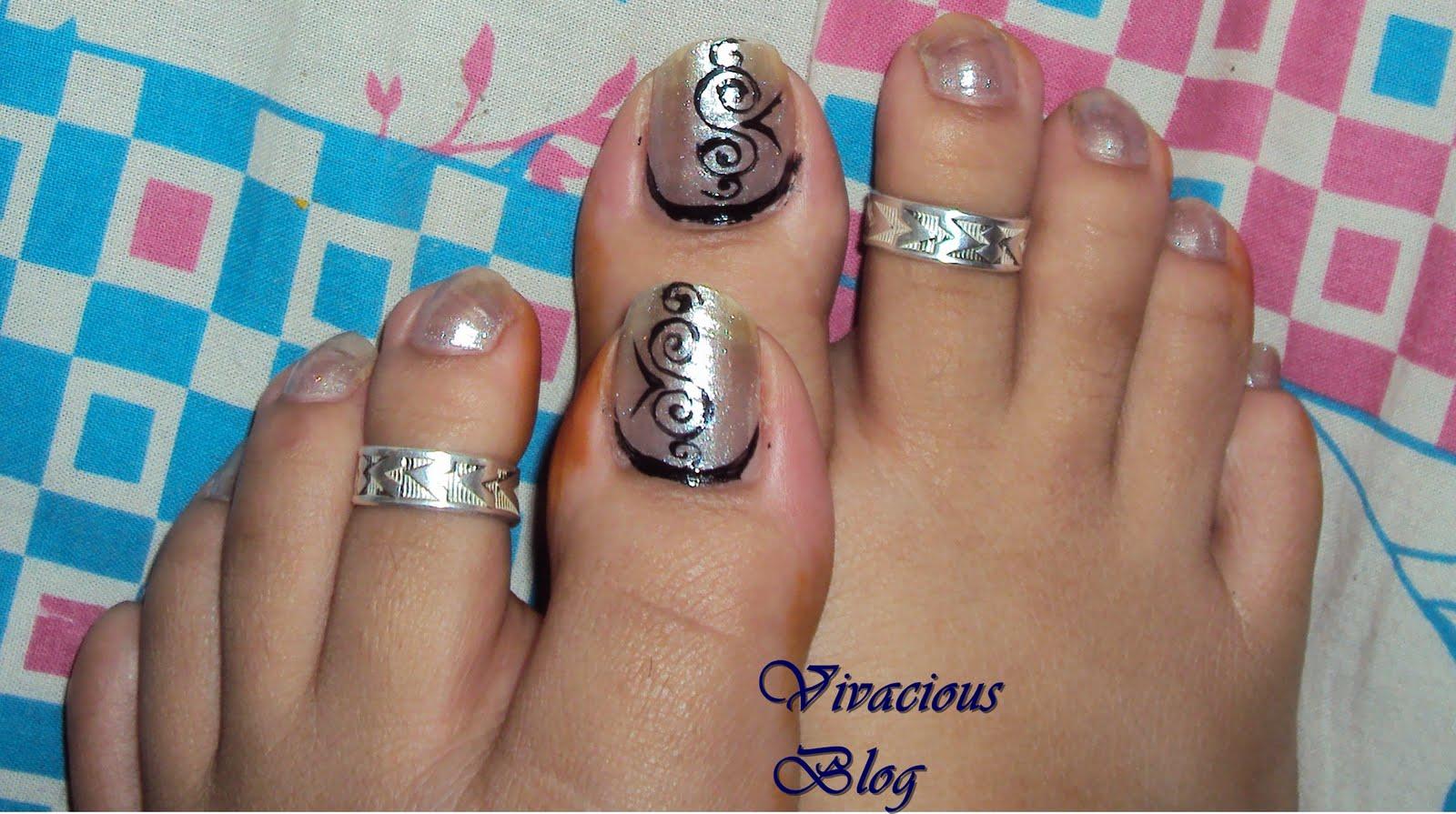 Vivacious Blog: Toe Nail Art