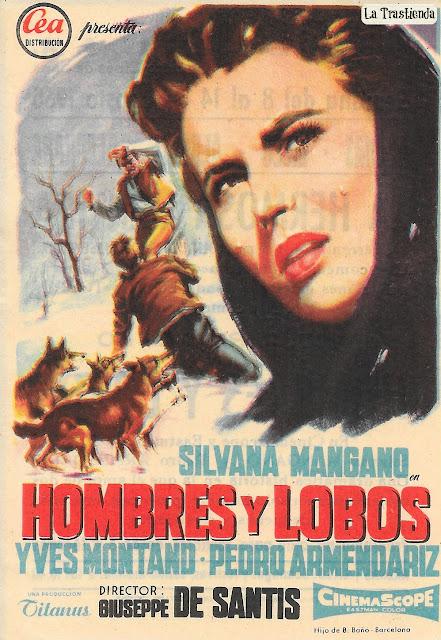 Programa de Cine - Hombres y Lobos - Silvana Mangano - Yves Montand