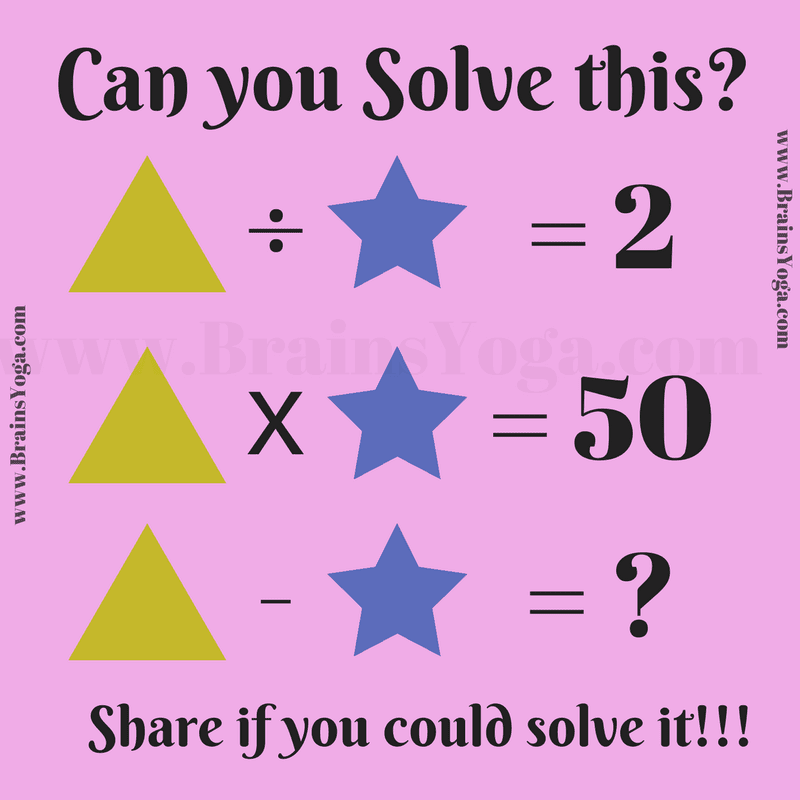 Can you solve this Maths Equation? - Brain\'s Yoga