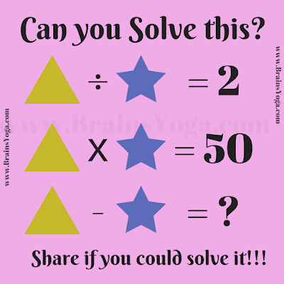 Maths Equation Brain Teaser