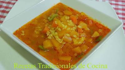 Cómo hacer sopa de calabaza con pasta, Receta fácil y económica