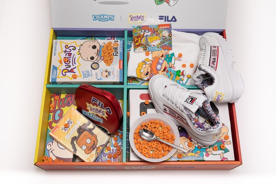 b76de1ac5c04 NickALive!  Champs Sports Launches Exclusive FILA x Rugrats Collection
