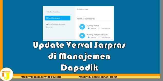 Update Verval Sarpras di Manajemen Dapodik