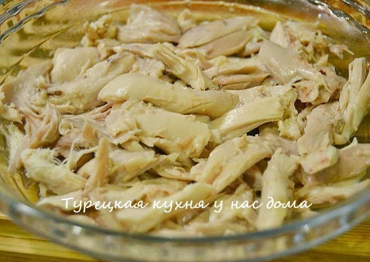 Курица с макаронами ризони