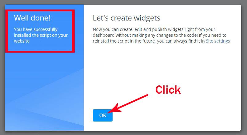 Getsitecontrol widgets