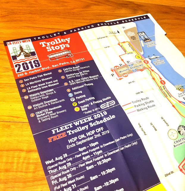 LA Fleet Week 2019 LA Waterfront San Pedro Port of Los Angeles, California Trolley Maps