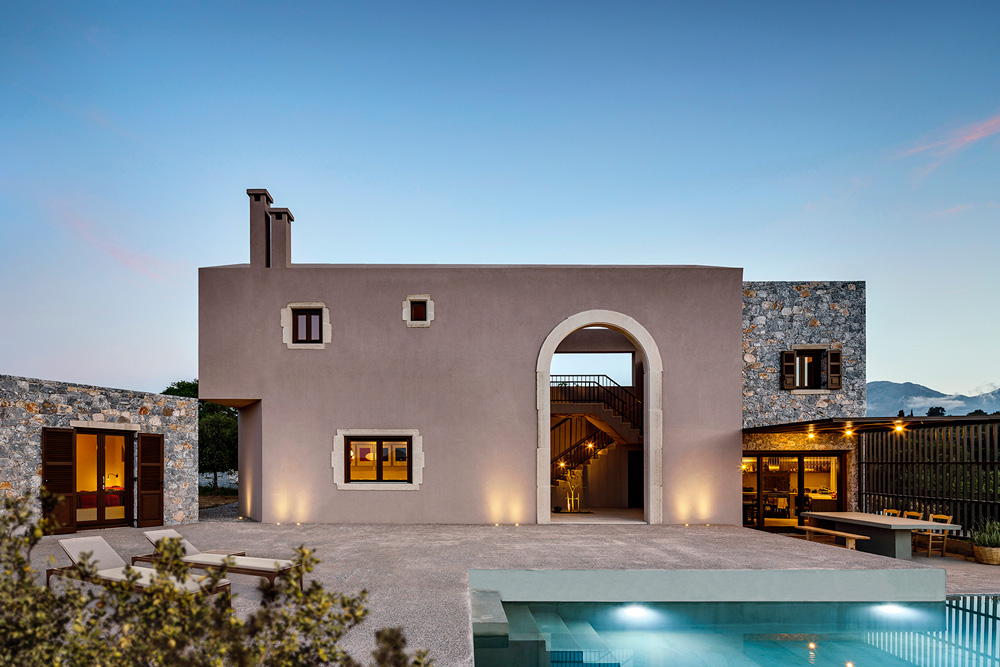 Summer holiday house in Crete by Kokosalaki Architecture