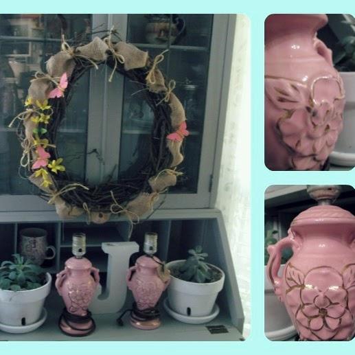 Vintage Pink Lamps