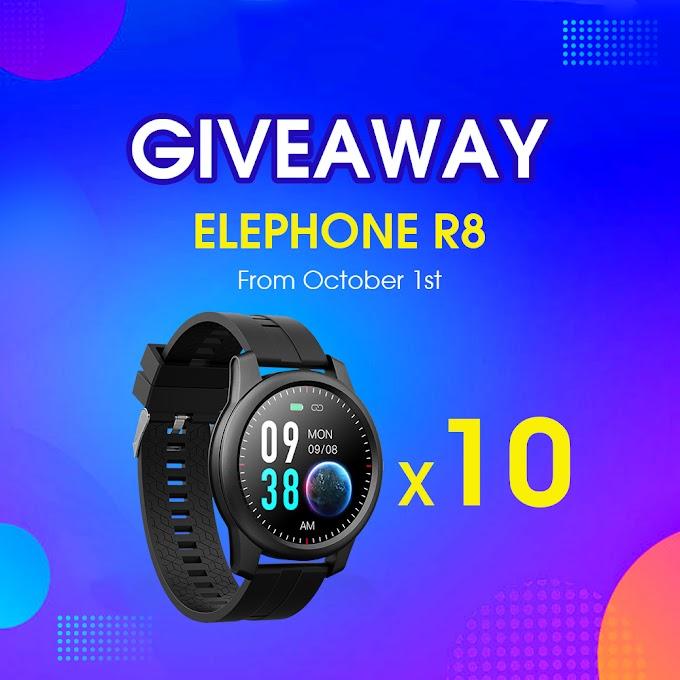 Sorteio de 10 Smartwatch Elephone R8