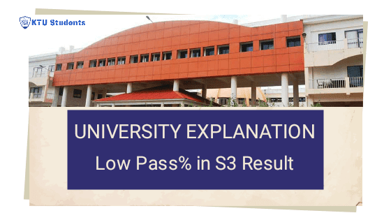Ktu explanation regarding low pass percentage complaint by colleges in btech s3 december 2019 exams