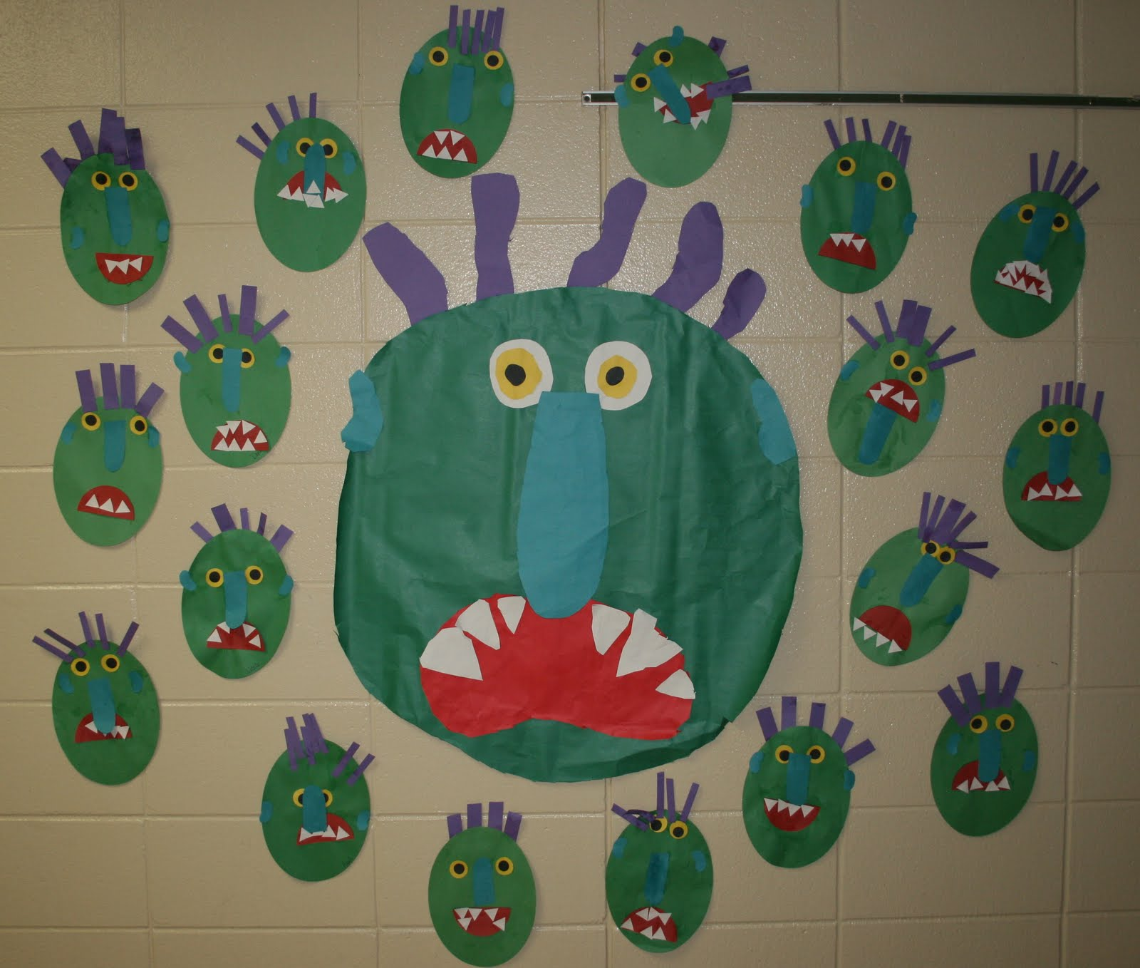 Mrs Mayas Kindergarten Green Monsters Amp Shape Monsters