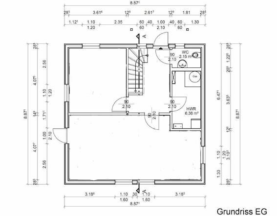 Das Obergeschoss Entspricht Nahezu Dem Standardgrundriss. Im EG Haben Wir  Ein Weiteres Zimmer Eingefügt: